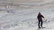 Ski slope at Harwood in Upper Teesdale