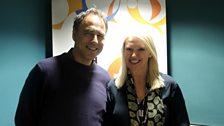 Anthony Horowitz with Anneka Rice