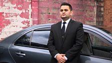 Chauffeur driver Muneeb Ahmed