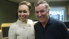 Rebecca Ferguson with Sir Terry