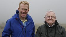 Adam Henson with Frank Stokes who survived a plane crash in 1945.