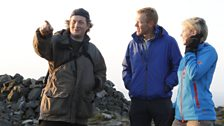 Ellie Harrison and Adam Henson with photograher Simon Powell sharing secrets of the dragon's breath.