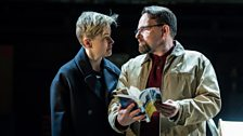 Maxine Peake (Dana) and Peter Forbes (Librarian)