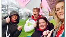 The Milford Haven 7s & 8s tag rugby mums braving the weather
