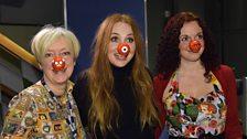 Janice, Nicola and Judith Owen do Comic Relief