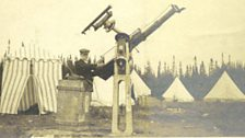 Annie's Husband Walter with his solar telescope.