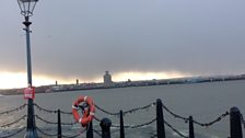 Rainclouds over the River Mersey