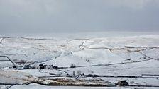 A snowy Langdon Beck in March