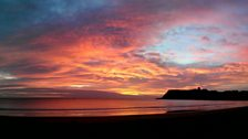 March sunrise over Scarborough