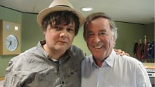 Ron Sexsmith poses with Sir Terry after his session