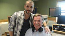 Shayne Ward with Sir Terry