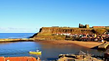 Whitby harbour in April