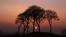 Sunset at the Seven Sisters in Houghton Le Spring
