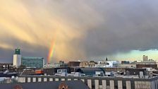 April shower over Newcastle
