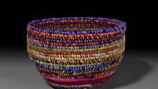 Basket, Yuwali (Janice Nixon, b. c. 1947), Plant fibre, wool, Manyjilyjarra/Mangala, Parnngurr, Western Australia, c. 2010