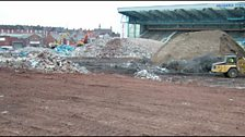 The demolition of Highfield Road.