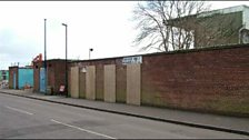Turnstiles for the West Terrace at Highfield Road were all boarded up