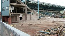 The Main Stand (in the background) was still standing.