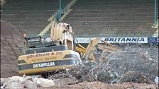 The end for the West Stand was drawing closer.