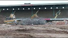 The West Terrace looks to have been swallowed up by the surrounding land.