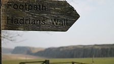 Signpost at Hadrian's Wall