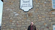 Mark at the end of the Pennine Way