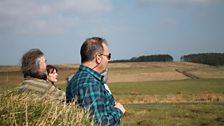 Recording at Hadrian's Wall