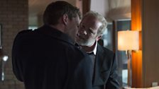 Stewart (Christian Cooke) has over-stepped the mark one time too many for Don (Peter Mullan)