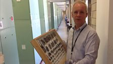 Dr Andrew Parker at the Natural History Museum holding one of the countless boxes of beetles that are inspiring new inventions