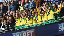 Canaries lift play-off trophy
