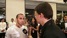 Formula One World Champion Lewis Hamilton talks to Sportsworld