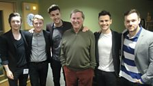 Sir Terry Wogan with his guests Collabro