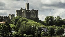 Cloud over Warkworth Castle in May