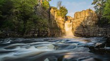 Morning light over High Force in May