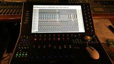 Inside the sound cubicle in Sala Santa Cecilia