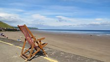 Empty deckchair at Whitby