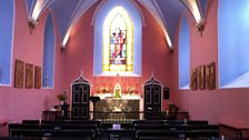 Inside Stonor chapel
