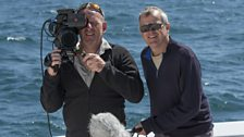 Producer Peter Bassett and cameraman Scott Tibbles in the Sea of Cortez