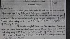 Copy of original letter written in prison by Dinesh Gupta to his family