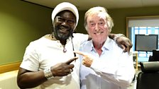 Levi Roots with Terry Wogan.