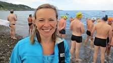 Miranda before taking on Britain's most venomous jellyfish in Dublin Bay