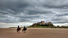 During the 18th Century, horses were used to patrol Bamburgh beach in bad weather on the look out for ships in distress