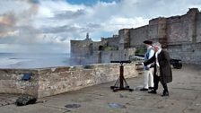 Cannons were fired to signal the position of ships in distress