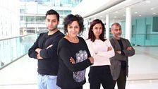Chris Nayak as Raj, Meera Syal as Bindi, Krupa Pattani as Anu and Vincent Ebrahim as Uncle Bash
