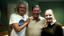Sir Terry Wogan with Dr Brian May and Kerry Ellis