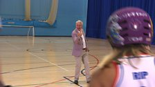 Clive Mason introduces our Roller Derby item