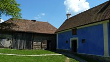 The rustically restored barns, owned by the Prince of Wales, in Zalanpatak.