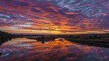 Berwick on Tweed sunset