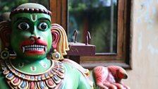 Bronze idol of Hanuman
