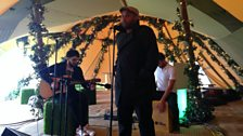 Tony Momrelle performs in the Teepee at Hyde Park